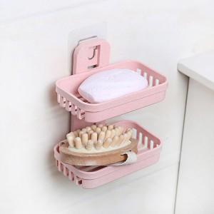 Bathroom Essentials Easy Wall Adhesive Soap Dish