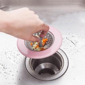Round Kitchen Sink Drain Filter - Pink