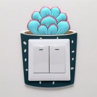 Home Decorative Switch Plate Cover Sticker - Sky Blue