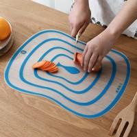 Silicon Multipurpose Kitchen Cutting Bakewear Dough Maker Mat - Blue