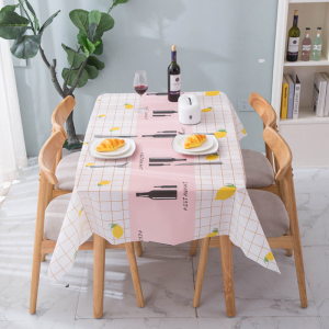 Printed Canvas Table Top High Quality Table Cover Fabric Sheet - Pink