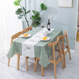 Printed Canvas Table Top High Quality Table Cover Fabric Sheet - Green