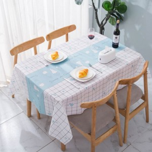 Printed Canvas Table Top High Quality Table Cover Fabric Sheet - Sky Blue
