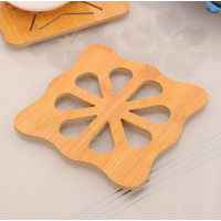 Engraved Wooden Fancy Dining Table Placement Mat - Flower