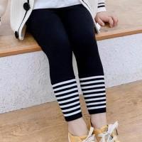 Stretchable Striped Kids Fashion Bottom Trousers - Black