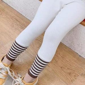 Stretchable Striped Kids Fashion Bottom Trousers - White