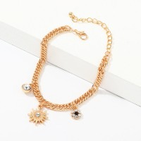 Girls Personality Gold Plated Bracelet - Golden
