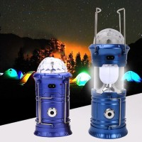 Multi-Functional Led Solar And Electric Rechargeable Portable Lantern - Blue