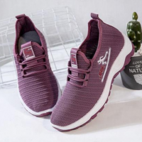 Canvas Laced Up Sports Women Fashion Sneakers - Purple