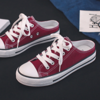 Laced Up Slip Over Laces Rubber Sole Casual Sneakers - Red