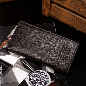 Leather Textured Formal High Quality Wallets - Brown