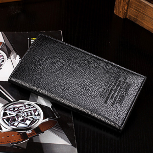 Leather Textured Formal High Quality Wallets - Black