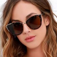 Ladies Leopard Fashion Sunglasses - Brown Leopard