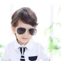 Childrens Fashion Sun Protection Sunglasses - Silver