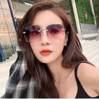 Girls Fashion Suqare Gradient Sunglasses - Light Purple