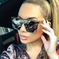 Girls Fashion Sense Of Technology Sunglasses - Brown