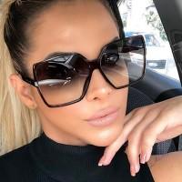 Ladies Fashion Gradient Sunglasses - Black