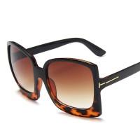 Ladies Retro Wild Gradient Sunglasses - Leopard