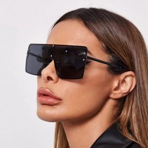 Woman Metal Frame Wild Sunglasses - Dark Gray