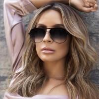 Girls Metal Frame Fashion Sunglasses - Black