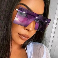 Girls Suqare Frame Fashion Sunglasses - Purple