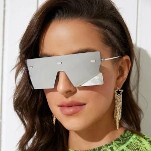 Girls Suqare Frame Fashion Sunglasses - Silver