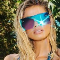 Girls Suqare Frame Fashion Sunglasses - Blue