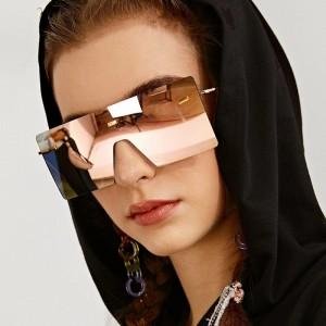 Girls Suqare Frame Fashion Sunglasses - Pink