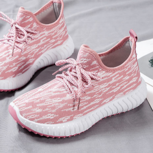 Canvas Camouflage Laced Up Sports Women Sneakers - Pink