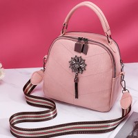 Tassel High Quality Synthetic Leather Women Fashion Bags - Pink