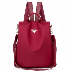 Solid Double Strapped Women Fashion Backpacks - Red