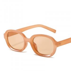 Square Fashion Frame Sunglasses - Apricot