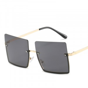 Square Frame Fashion Wild Sunglasses - Dark Gray