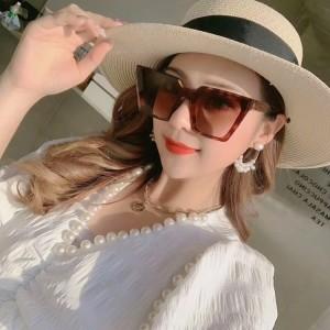 Woman Fashion Simple Sunglasses - Leopard Brown