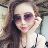 Ladies Fashion Simple Gradient Sunglasses - Coffee