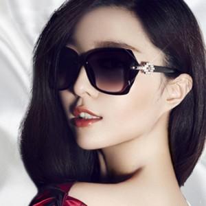 Ladies Big Frame Fashion Wild Sunglasses - Black