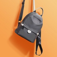 Zipper Closure Women Fashion Mini Backpacks - Gray