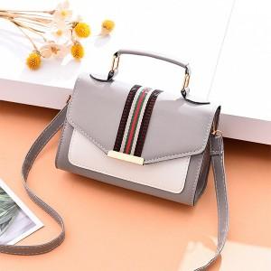 Magnetic Closure Women Fashion Messenger Bags - Gray