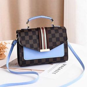 Magnetic Closure Women Fashion Messenger Bags - Light Blue