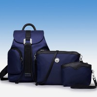 Zipper Closure Three Pieces High Quality Bags Set - Blue