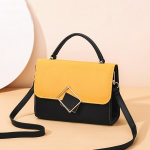 Vintage Magnetic Closure New Fashion Messenger Bags - Yellow