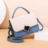 Vintage Magnetic Closure New Fashion Messenger Bags - Blue