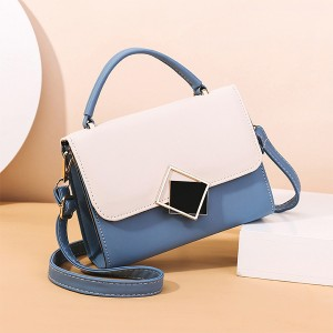 Vintage Magnetic Closure New Fashion Messenger Bags - Blue