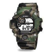 Camouflage Digital Dial Battery Operated Wrist Watch - Green