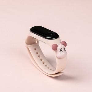 Girls Wear Silicon Strap Digital Watch - Light Pink