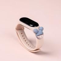 Girls Wear Silicon Strap Digital Watch - Pink