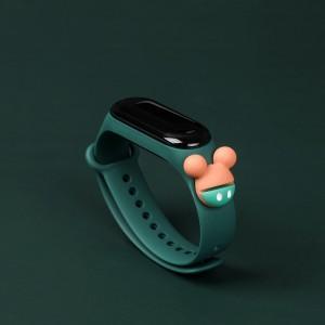 Girls Wear Silicon Strap Digital Watch - Green