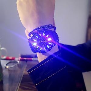 Plastic Strap Shiny Dial Women Fashion Wrist Watch