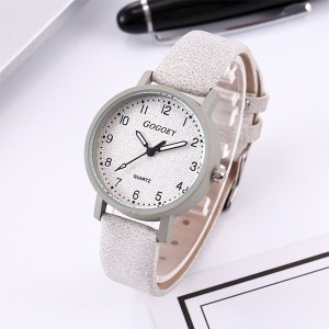 Mesh Strapped Numerical Dial Analogue Wrist Watch - Gray