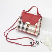 Geometric Prints Press Lock Women Messenger Bags - Red